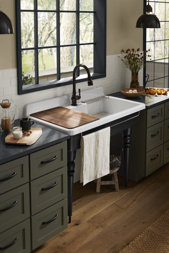 farm sink remodeled kitchen broomall pa